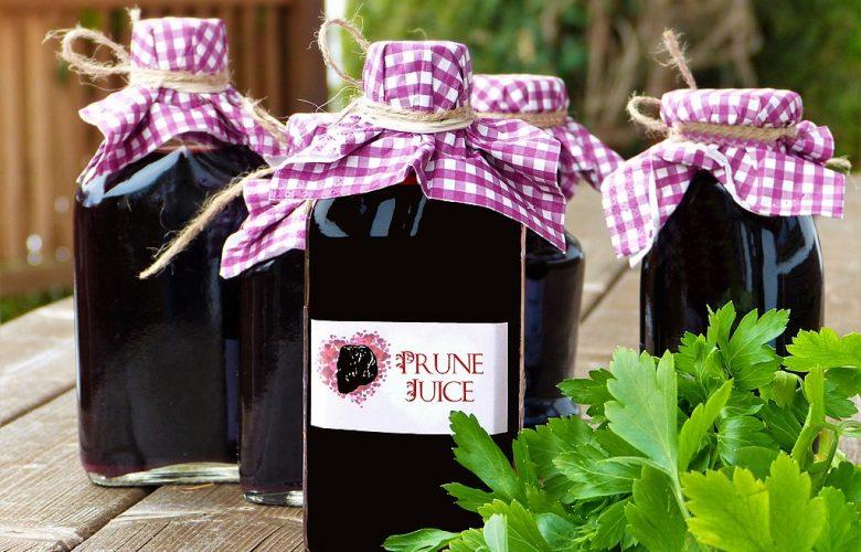 Bottles of prune juice